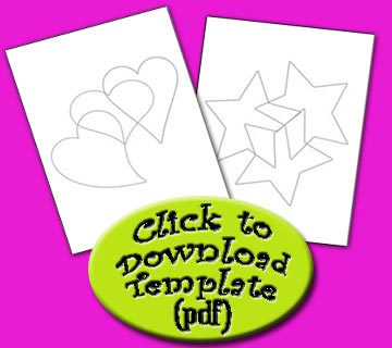 Click here to download your free stars and hearts template