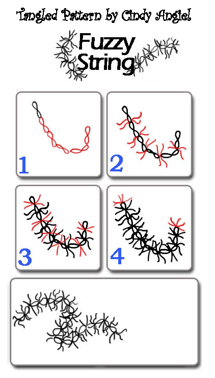 Fuzzy String - Tangle Pattern Worksheet